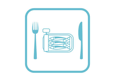 sardines: Sardines vector icon on white background Illustration