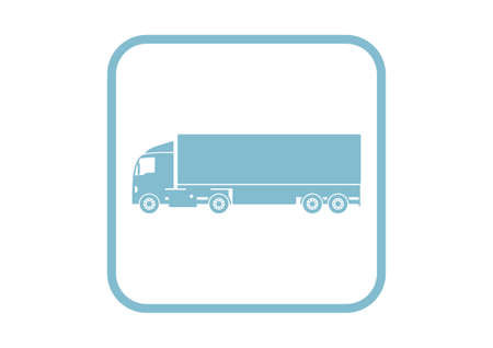 camion: Truck vector icon on white background