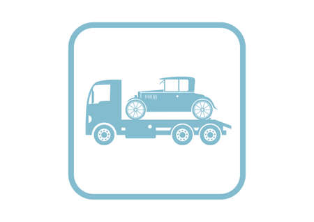 tow: Tow truck with car