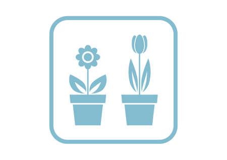tulips isolated on white background: Flower vector icon on white background Illustration