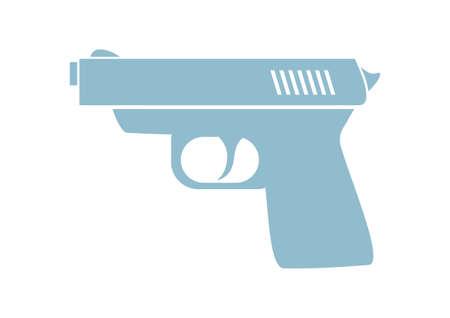 dangerous weapons: Gun vector icon