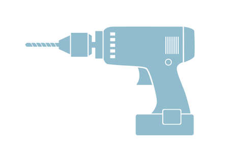 cordless: Drill icon on white background