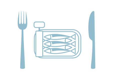 sardine: Sardinen Vektor-Symbol auf wei�em Hintergrund Illustration