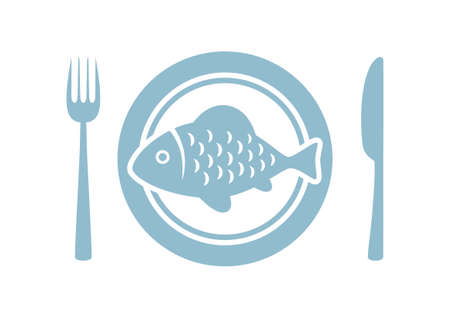 plate: Fish on porcelain plate