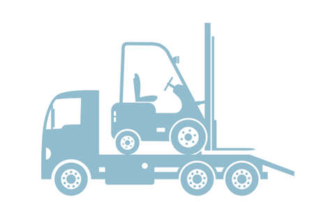 breakdown truck: Tow truck with forklift