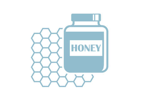 sweetener: Honey vector icon on white background