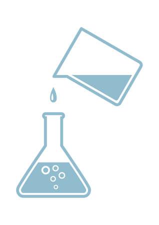 Laboratory glass icon on white background Illustration