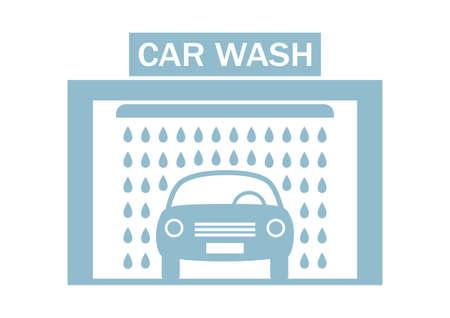 carwash: Car wash icon on white background