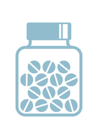 homeopathic: Medicine vector icon on white background