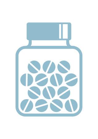 fiole: vecteur de m�decine ic�ne sur fond blanc Illustration
