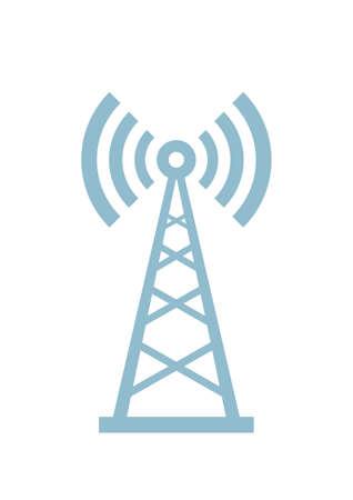 transmitter: Transmitter vector icon on white background Illustration