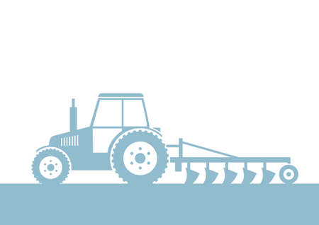 plowing: Tractor vector icon on white background Illustration