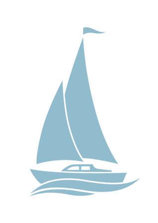 sailboat: Sailboat vector icon on white background
