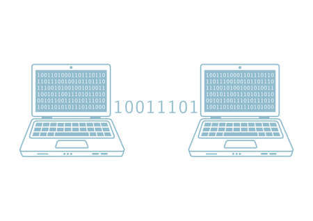 laptop vector: Laptop vector icon on white background