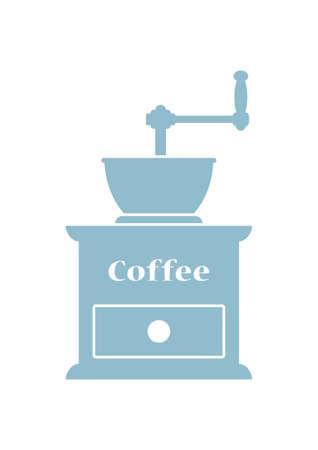 Kaffeemühle Symbol auf weißem Hintergrund