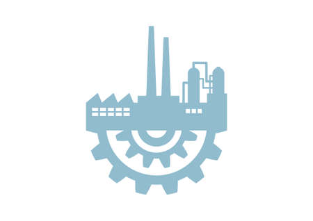 Industrial vector icon on white background Ilustração