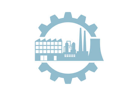 Industrial vector icon on white background Vector