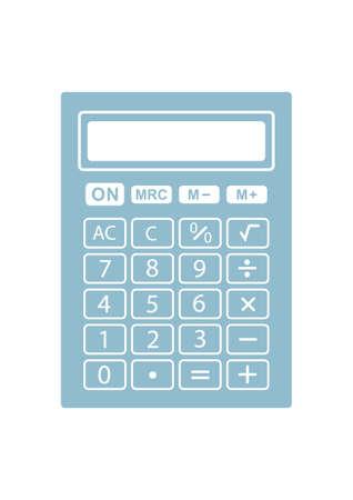 Icono Calculadora del vector en el fondo blanco Ilustración de vector