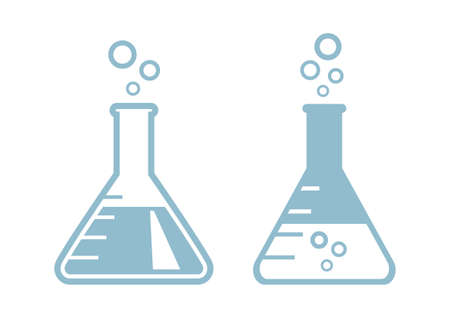 laboratory glass: Laboratory glass icons on white background