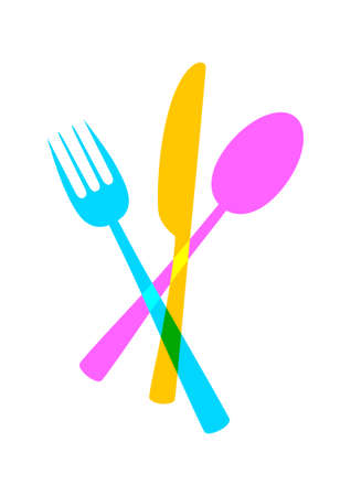 Cutlery vector icon on white background Vector
