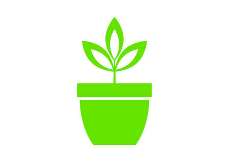 Plant vector icon on white background Vector