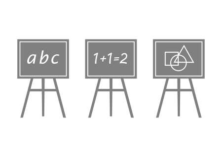 Grey blackboard icons on white background Vector