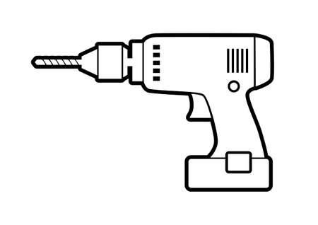 Drill-Symbol auf weißem Hintergrund