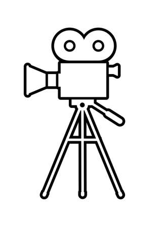 Movie camera icon on white background Vector