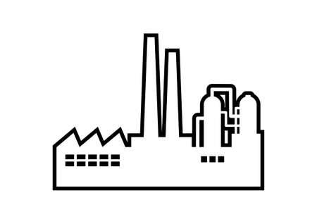 Factory vector icon on white background Stock Illustratie