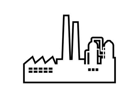 Factory vector icon on white background 矢量图像