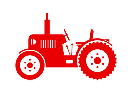 tractor: Tractor vector icon on white background Illustration