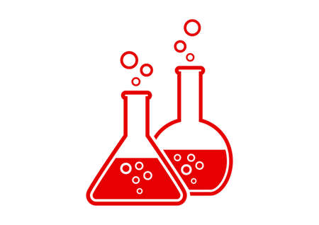drug discovery: Laboratory glass on white background