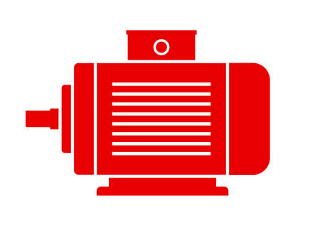 electromagnetic: Electric motor icon on white background