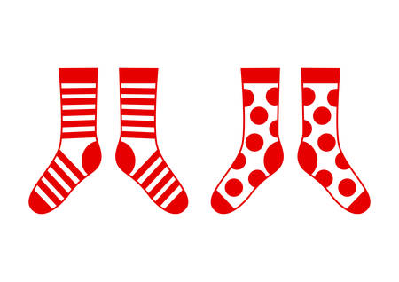 hosiery: Socks on white background Illustration