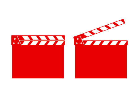 on white background: Movie clapper on white background