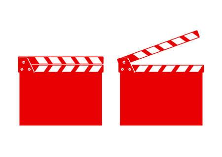 movie clapper: Valvola di film su sfondo bianco