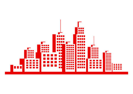 city background: City vector icon on white background