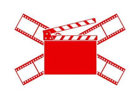 Cinema vector icon on white background Vector