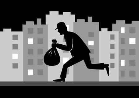 ladron: Ladrón en la noche de la ciudad