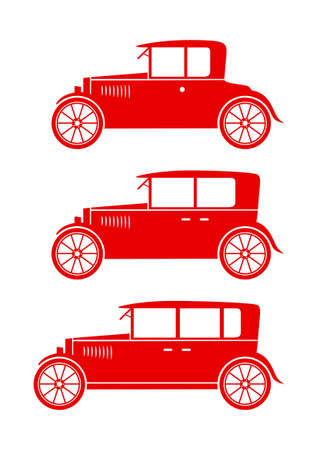 Car icons on white background Vector