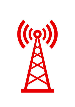 Transmitter icon on white background Ilustração