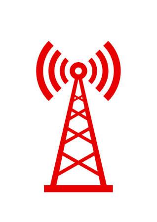Transmitter icon on white background Stock Illustratie
