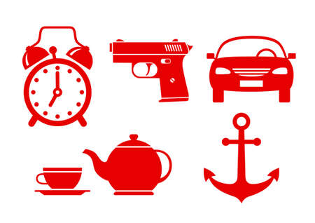 alarmclock: Miscellaneous vector icons on white background