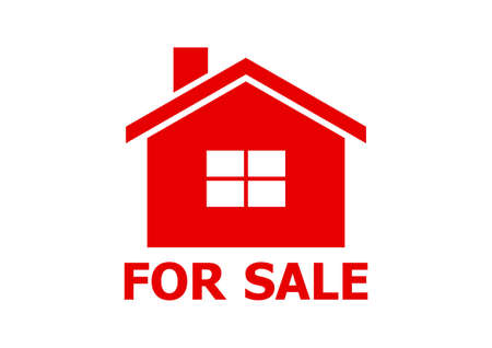 buying real estate: House vector icon on white background