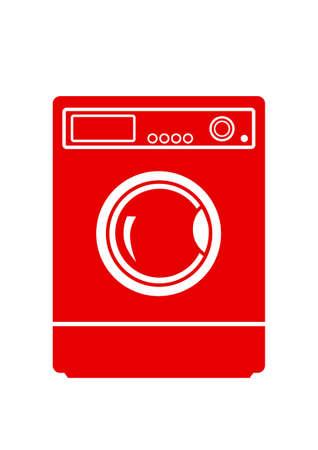 launder: Washing machine icon on white background