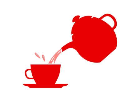 red tea: Red tea icon on white background