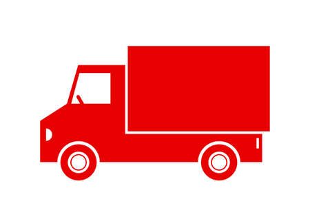 on white background: Delivery van on white background