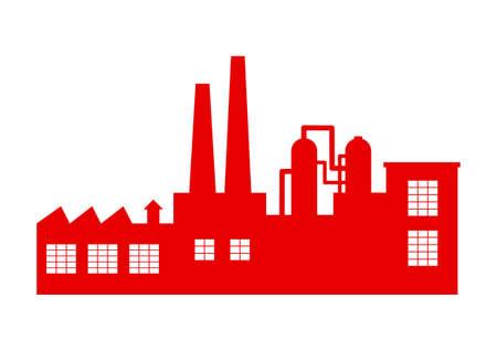 poison symbol: Factory vector icon on white background Illustration
