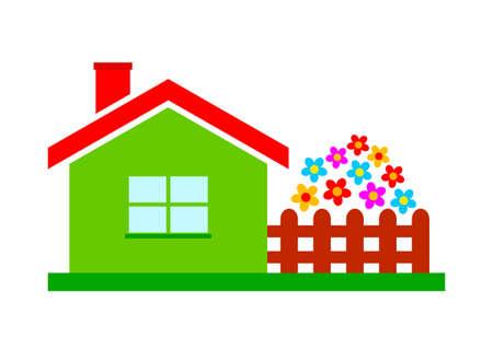 background house: House icon on white background