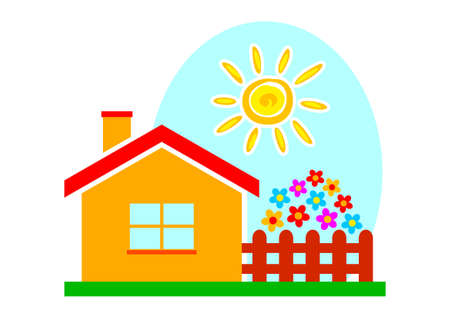 home clipart: House icon on white background